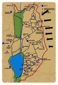 Map Of Golan